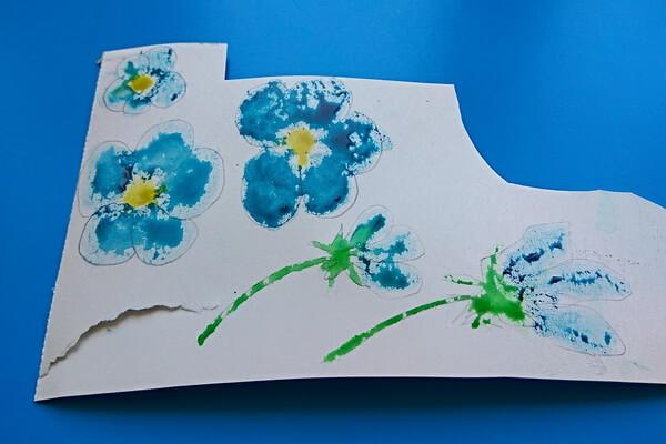 Красивая открытка с цветами в технике скрапбукинг поэтапно - шаг 4