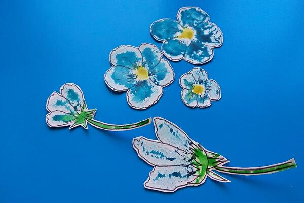 Красивая открытка с цветами в технике скрапбукинг поэтапно - шаг 6