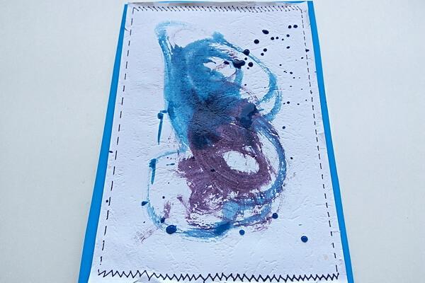 Красивая открытка с цветами в технике скрапбукинг поэтапно - шаг 9