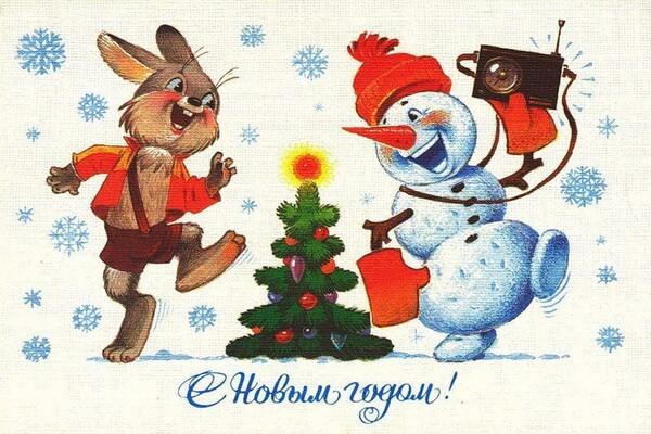 Новогодние открытки Владимира Зарубина-2