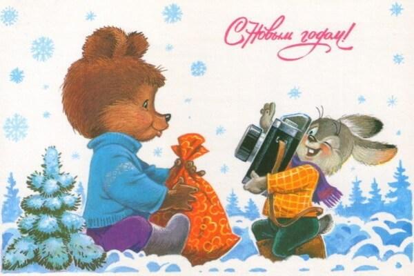 Милые новогодние открытки Владимира Зарубина