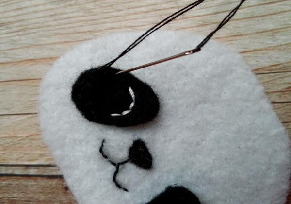 Панда из фетра пошагово - шаг 8