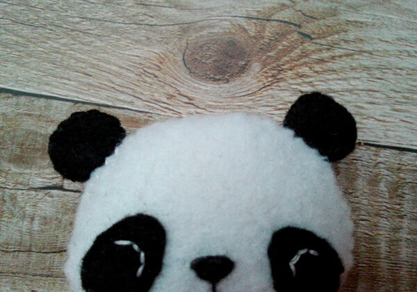 Панда из фетра пошагово - шаг 22