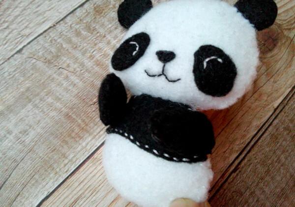 Панда из фетра пошагово - шаг 23