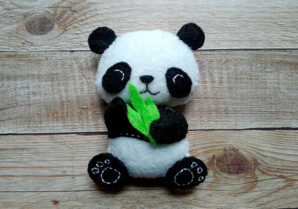 Панда из фетра пошагово - шаг 26