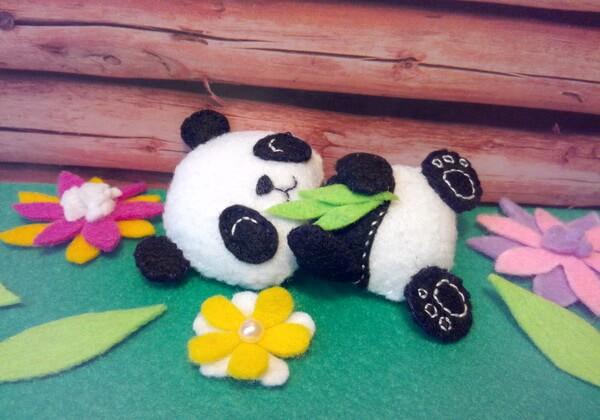 Панда из фетра - шьём мягкую игрушку своими руками