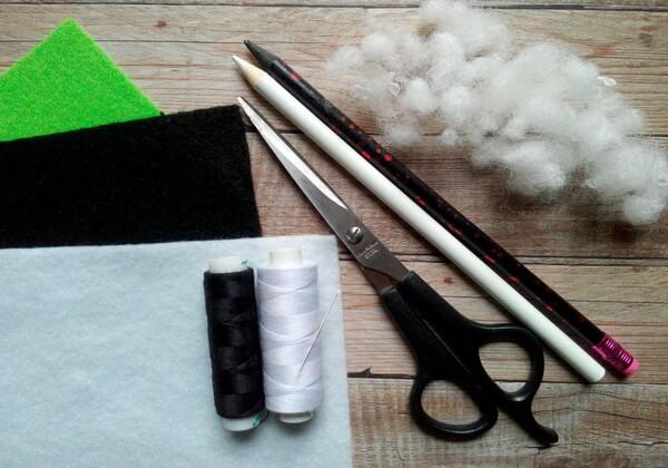 Панда из фетра своими руками - инструменты и материалы