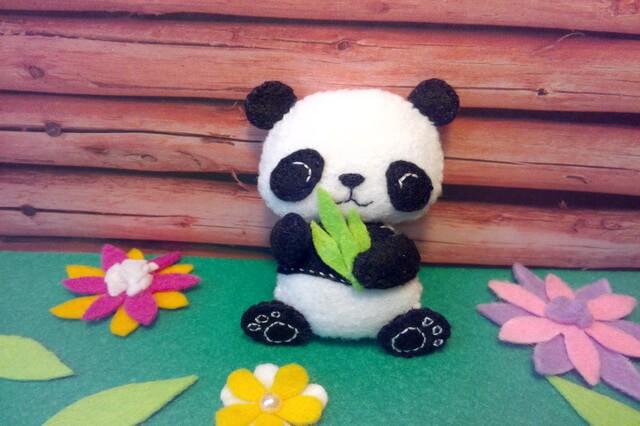 Игрушка панда из фетра своими руками - пошаговый мастер-класс