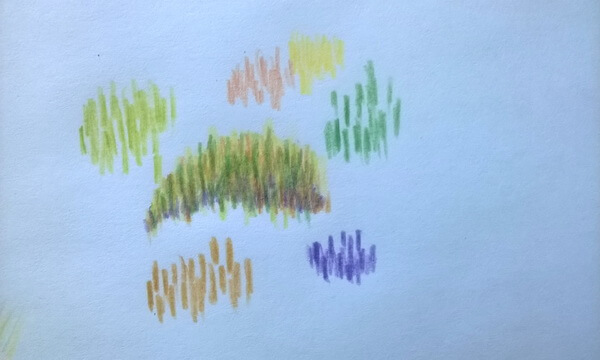 Пейзаж цветными карандашами поэтапно - шаг 11