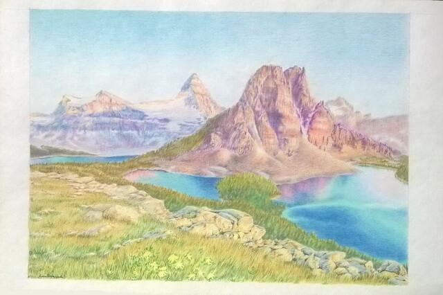 Как нарисовать пейзаж цветными карандашами - поэтапный урок рисования