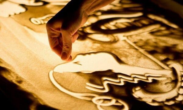 Песочная анимация - искусство сэнд-арт