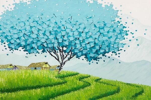 Мастихиновая живопись Фэн Тчу Транг