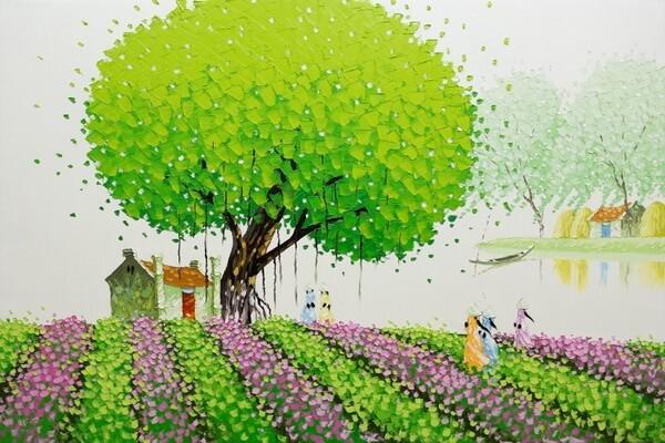 Вьетнам на картинах художницы Фэн Тчу Транг