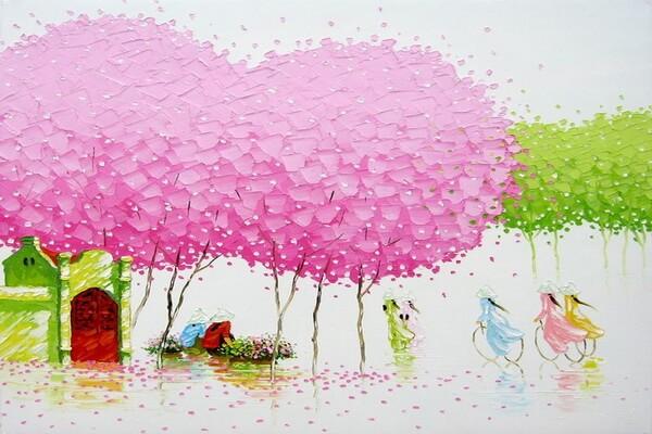 Картины мастихином Фэн Тчу Транг