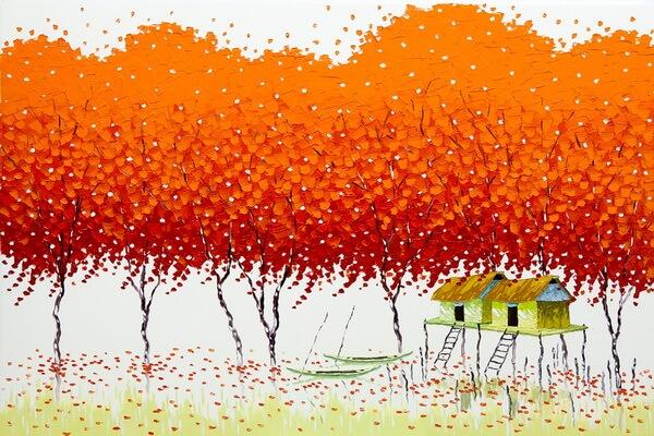 Деревья в живописи Фэн Тчу Транг