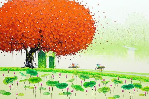Времена года в живописи вьетнамской художницы Фэн Тчу Транг