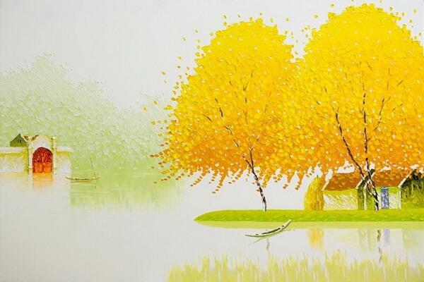 Красивые картины мастихином Фэн Тчу Транг