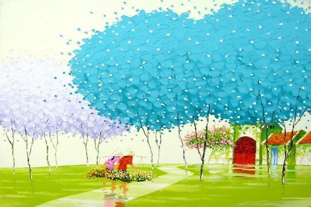 Мастихиновая живопись Фэн Тчу Транг - художницы из Вьетнама