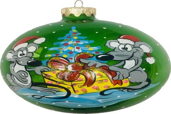 Подарки на Новый год крысы своими руками - Оригинальные ёлочные шары