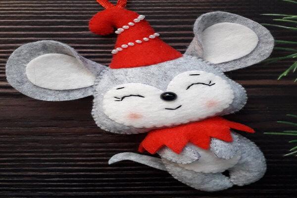 Подарки на Новый год крысы своими руками для друзей - Игрушки из фетра своими руками