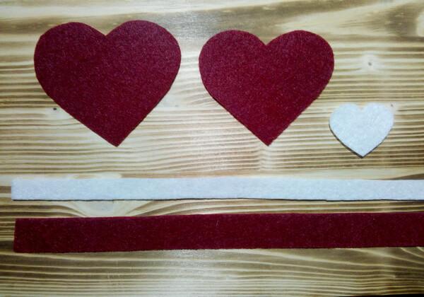 Коробочка сердце из фетра пошагово - шаг 2