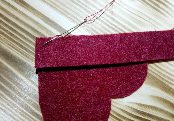 Коробочка сердце из фетра пошагово - шаг 3