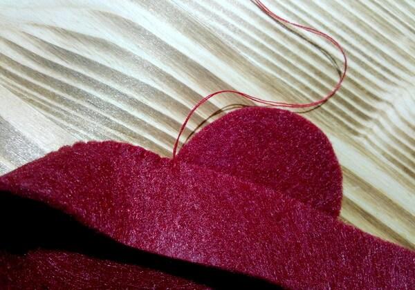 Коробочка сердце из фетра пошагово - шаг 5