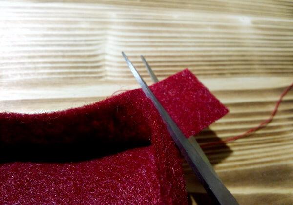 Коробочка сердце из фетра пошагово - шаг 6