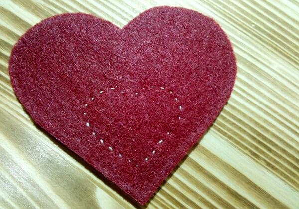 Коробочка сердце из фетра пошагово - шаг 10