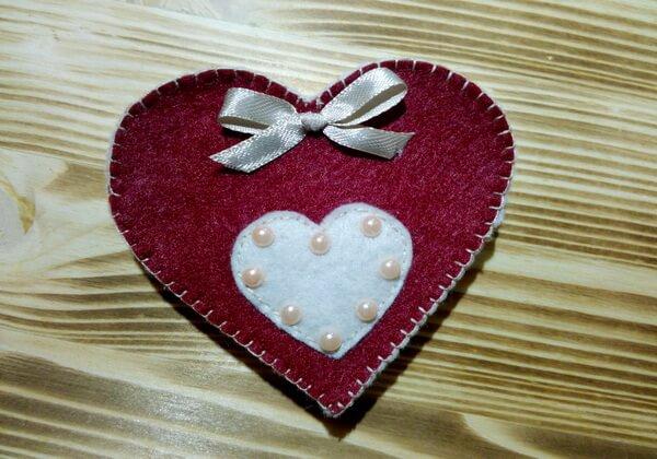 Коробочка сердце из фетра пошагово - шаг 14, 15