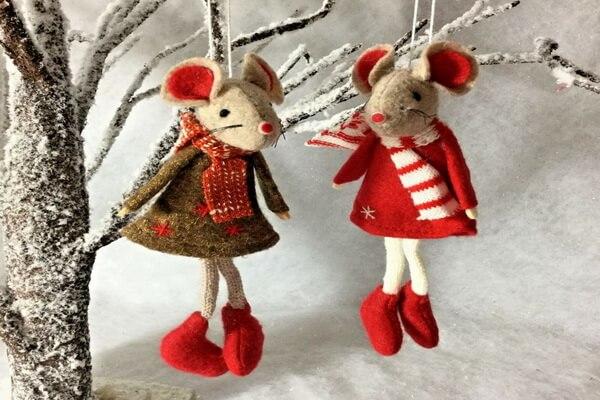 Поделки на ёлку на год крысы - Идеи украшений из фетра