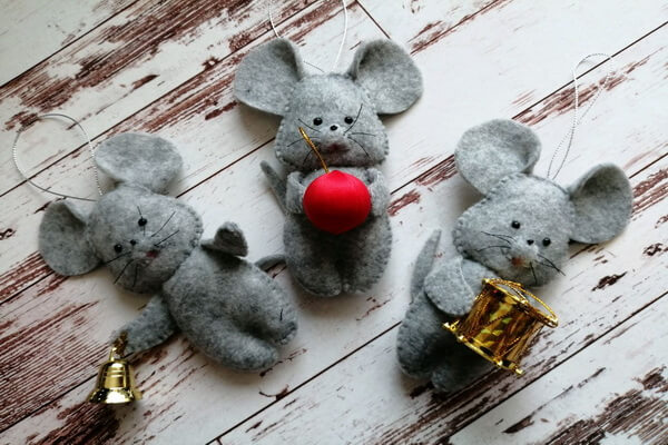 Идеи поделок на год крысы своими руками - Мышки из фетра