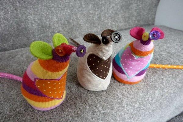 Поделки на ёлку на год крысы из носков