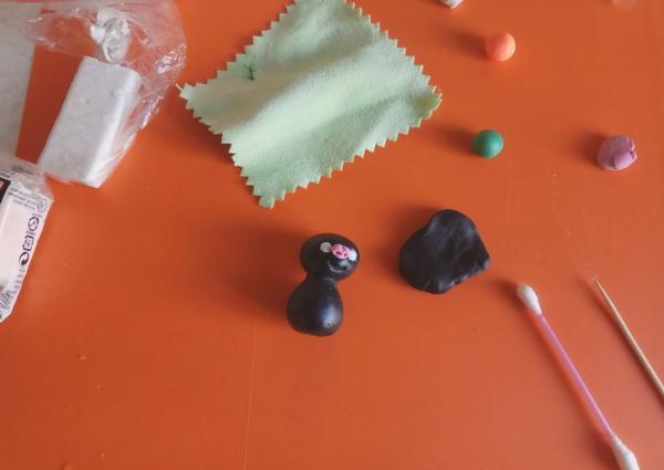 Пошаговый мастер-класс поделки на Хэллоуин - летучая мышь из полимерной глины - этап 4