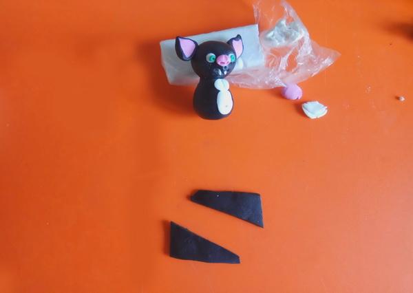 Пошаговый мастер-класс поделки на Хэллоуин - летучая мышь из полимерной глины - этап 6