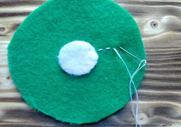 Подставки для кружек из фетра пошагово - шаг 12