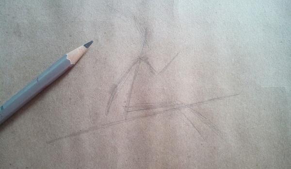 Поэтапный рисунок ведьмы из мультфильма «Место на метле» - этап 1
