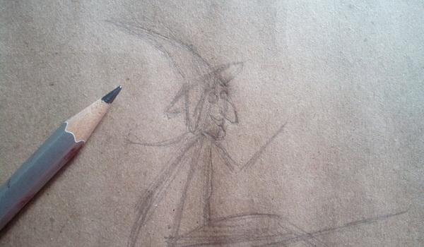 Поэтапный рисунок ведьмы из мультфильма «Место на метле» - этап 3