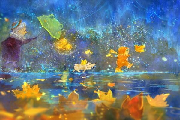 Осенние иллюстрации Полины Яковлевой