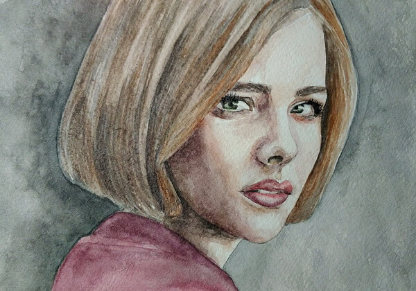 Портрет акварелью - поэтапный урок рисования