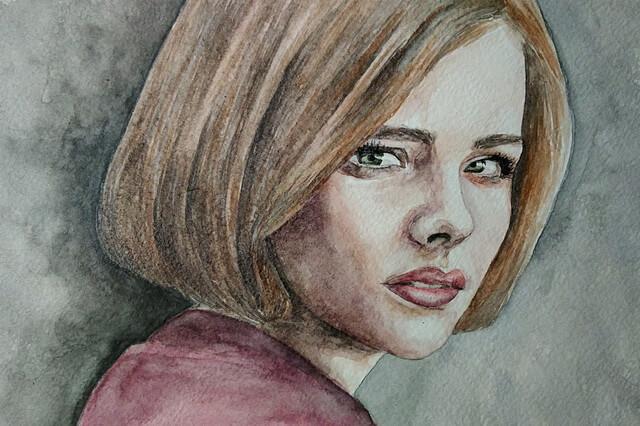 Рисование портрета акварелью - пошаговый урок для начинающих