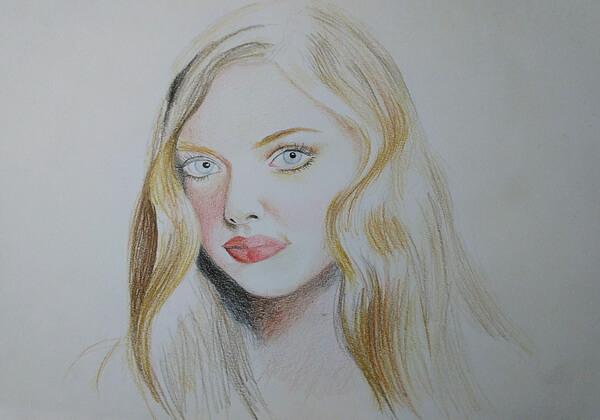 Как нарисовать портрет цветными карандашами - шаг 3