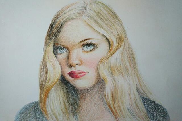 Портрет цветными карандашами поэтапно - урок рисования для начинающих