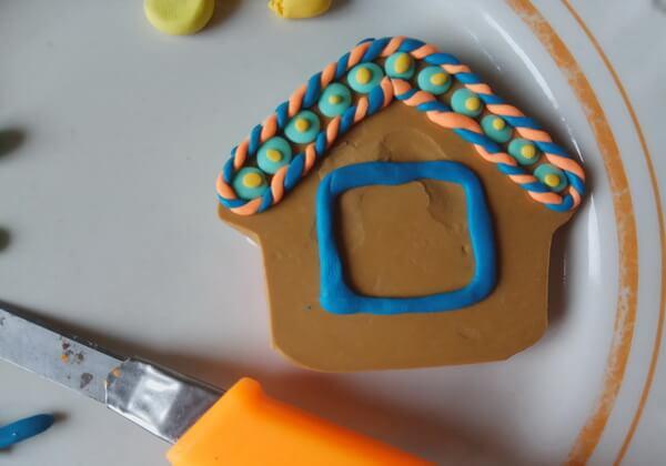 Пряничный домик из полимерной глины пошагово - шаг 11
