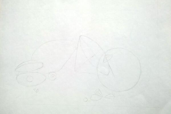 Как рисовать красивые рисунки морских ракушек поэтапно - шаг 2