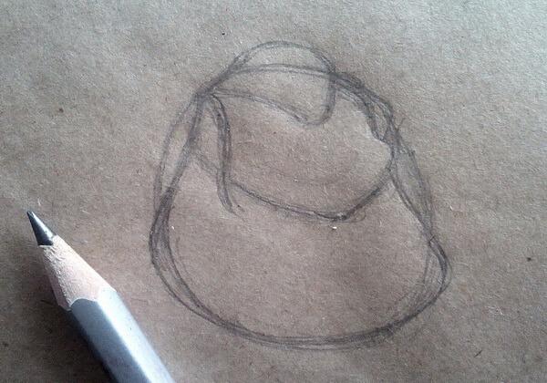 Рисунок Гаечки из «Чип и Дейл» пошагово - шаг 2