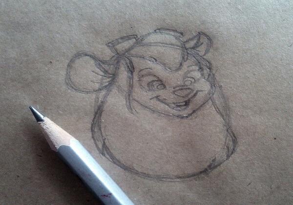 Рисунок Гаечки из «Чип и Дейл» пошагово - шаг 4