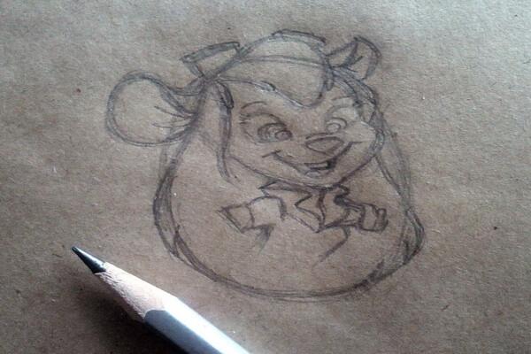 Рисунок Гаечки из «Чип и Дейл» пошагово - шаг 5