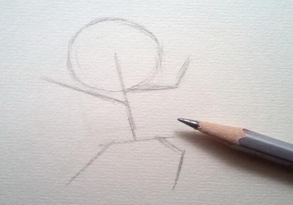 Как нарисовать кота в сапогах карандашом поэтапно - шаг 1