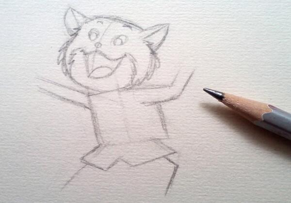 Как нарисовать кота в сапогах карандашом поэтапно - шаг 3